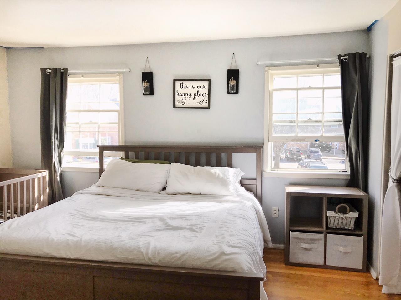 Minimalist Master Bedroom and Shared Nursery